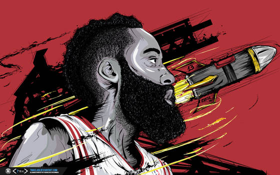 James Harden The Rocket Wallpaper