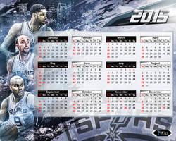 San Antonio Spurs Calendar 2015