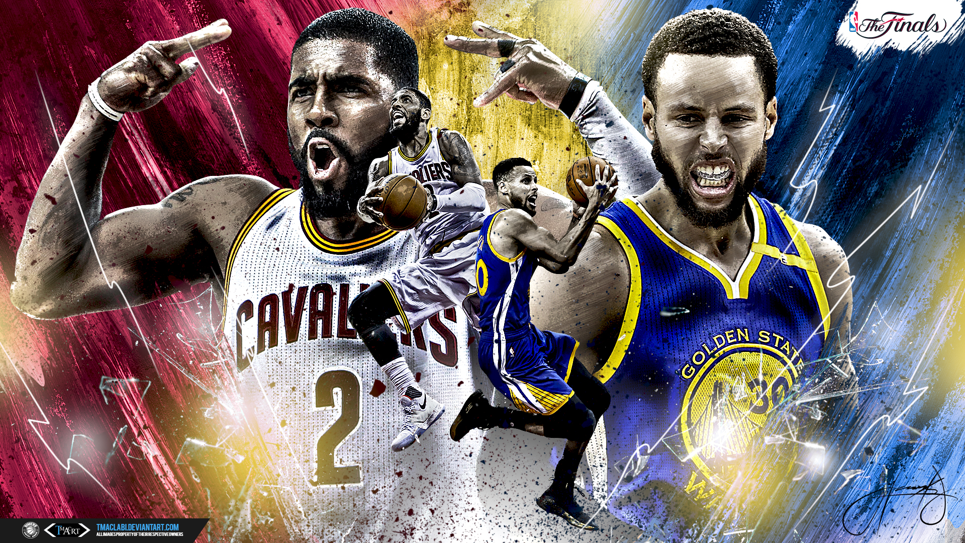 Kyrie vs. Curry Finals 2017 Wallpaper by tmaclabi on ...