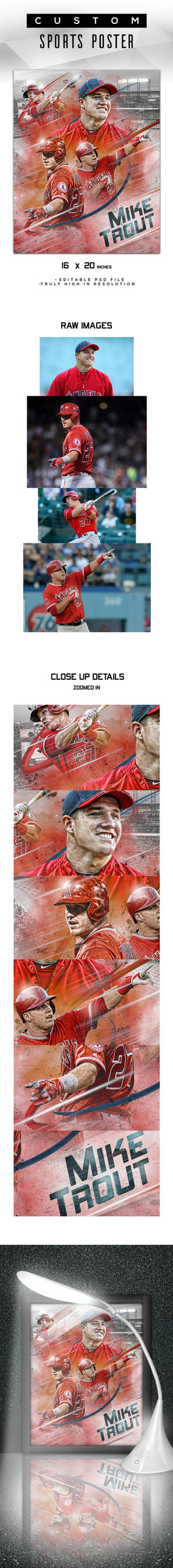 Mike Trout Poster by tmaclabi