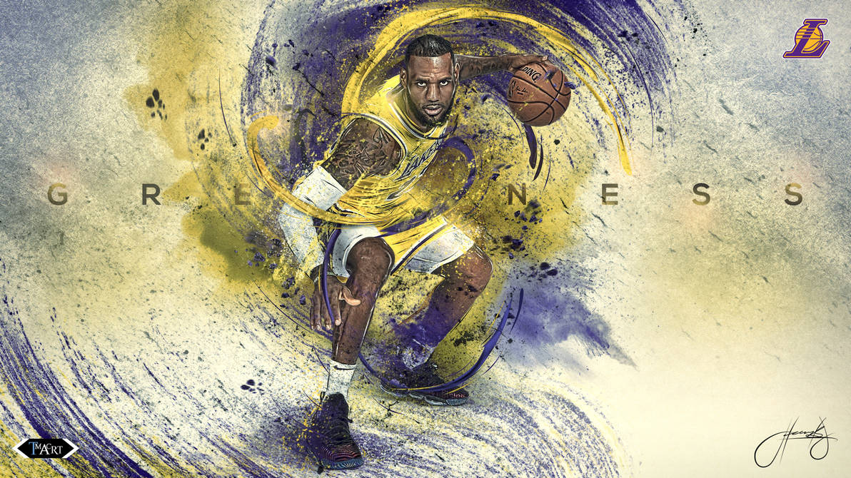 Lebron James L.A. Lakers Greatness Wallpaper B by tmaclabi ...