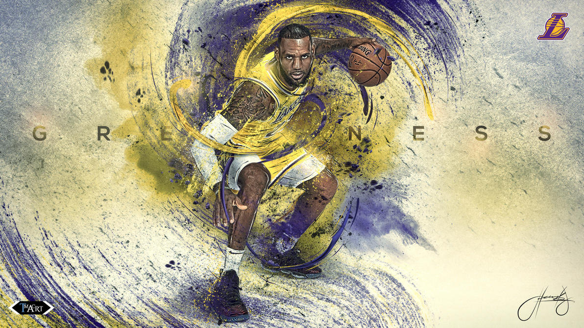 Lebron James L.A. Lakers Greatness Wallpaper B by tmaclabi