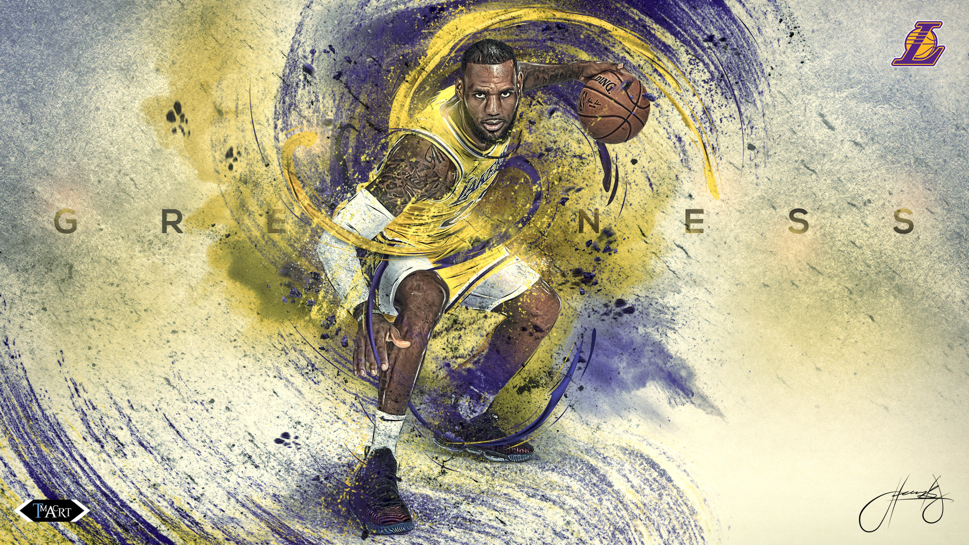 Lebron James L A Lakers Greatness Wallpaper B By Tmaclabi On Deviantart