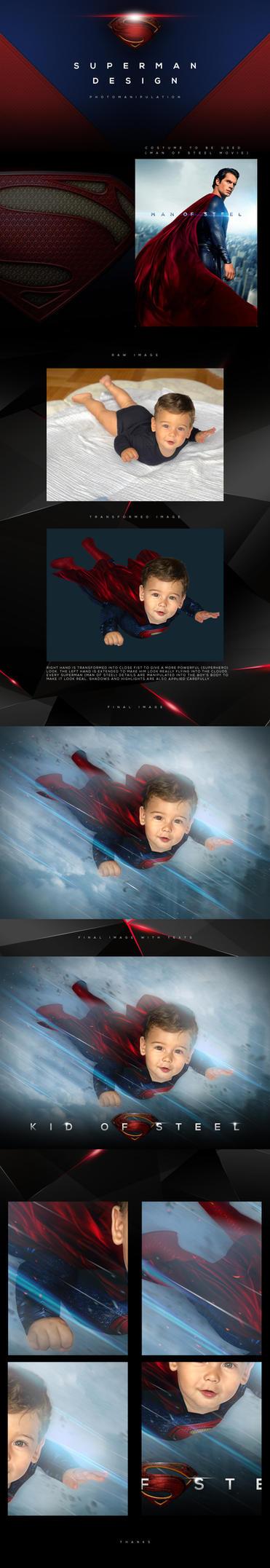Photomanipulation Man of Steel Project by tmaclabi