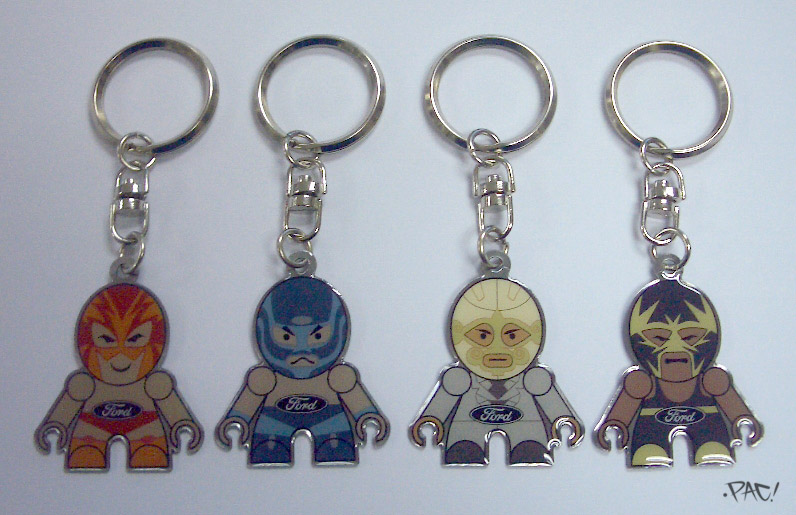 Luchador Keychains by pacman23