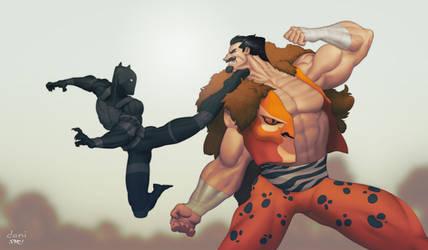 Black Panther vs Kraven