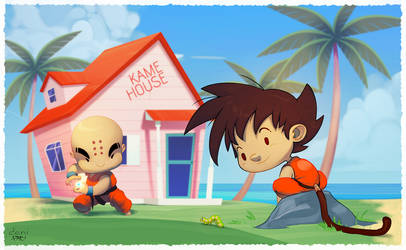 Goku and Krillin by pacman23