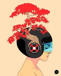 Bonsai Helmet by pacman23