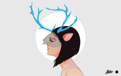 Antler Girl Wallpaper by pacman23
