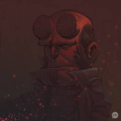 Hellboy sketch by pacman23