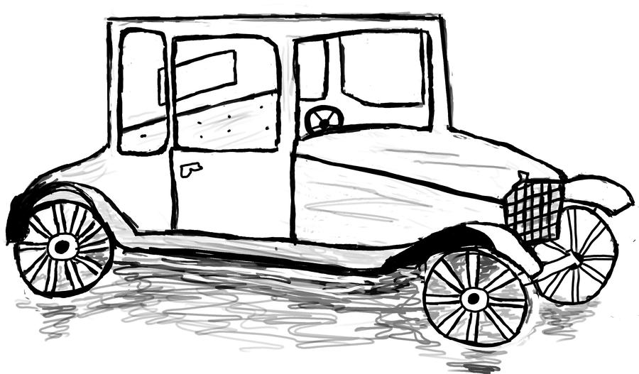 How to draw a model t ford