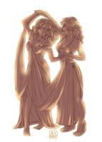 Comm: Maelerys and Zora by Jeyerre