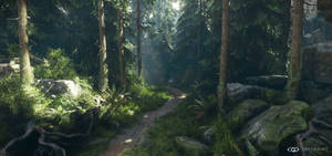 CryEngineV - Lighting and forest study 2