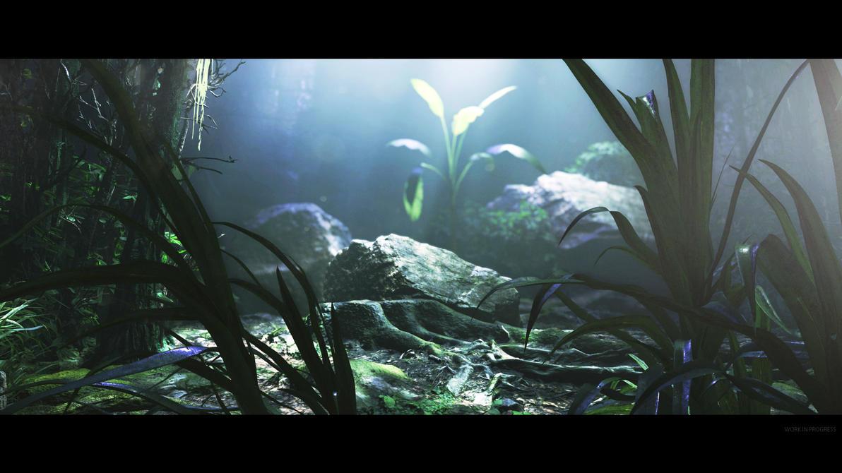 CryEngine V - Volume Light Test Scene 01 by MadMaximus83
