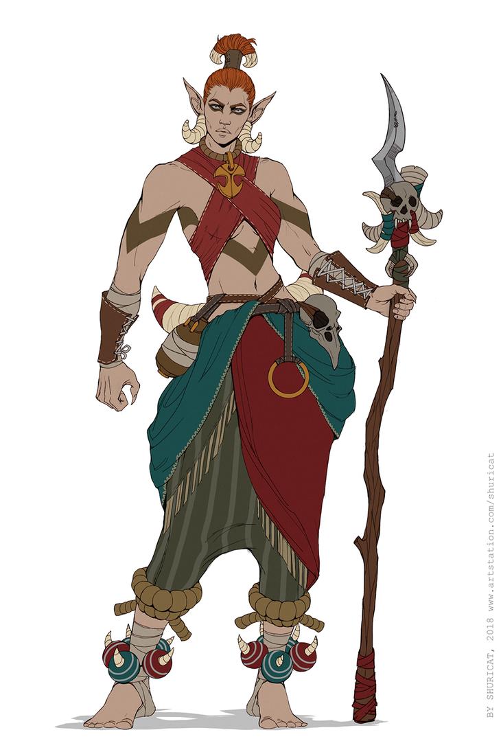 Tribal Warrior by ShuriCat