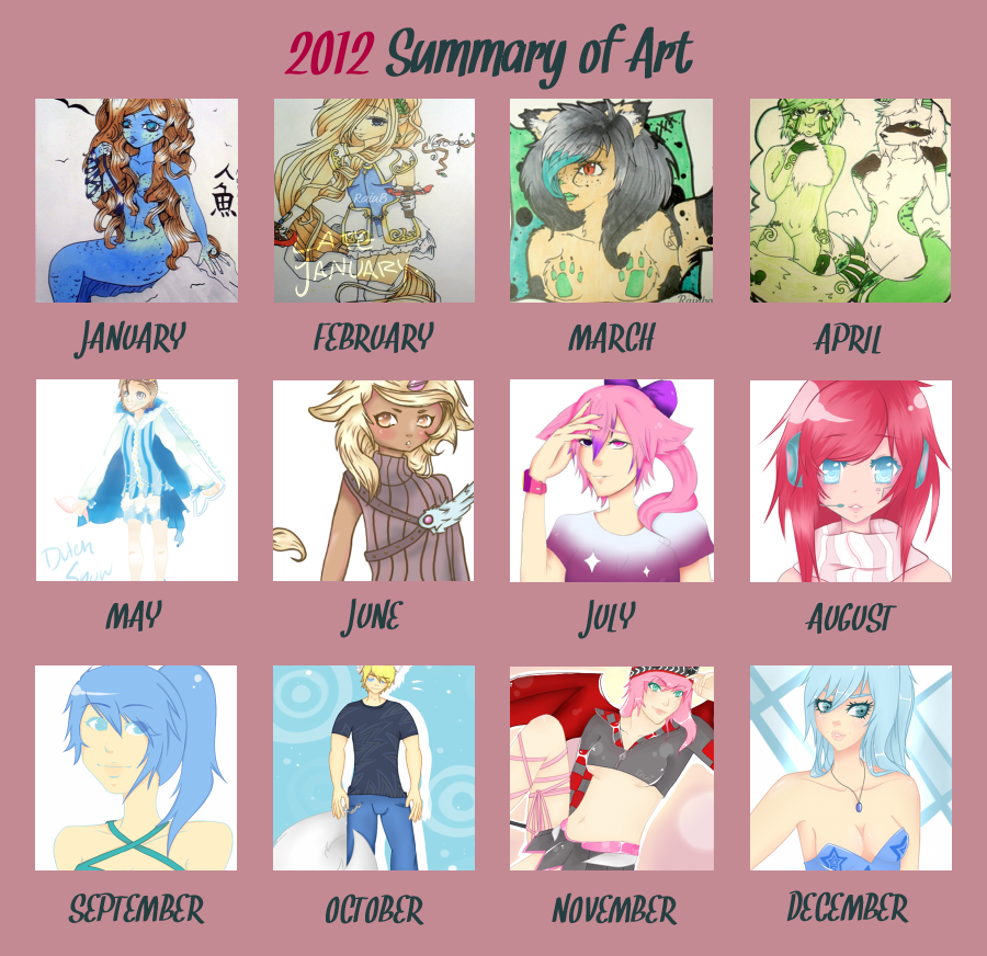 2012 Art Summary by Rhuni