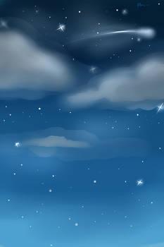 Night Sky Custom Background