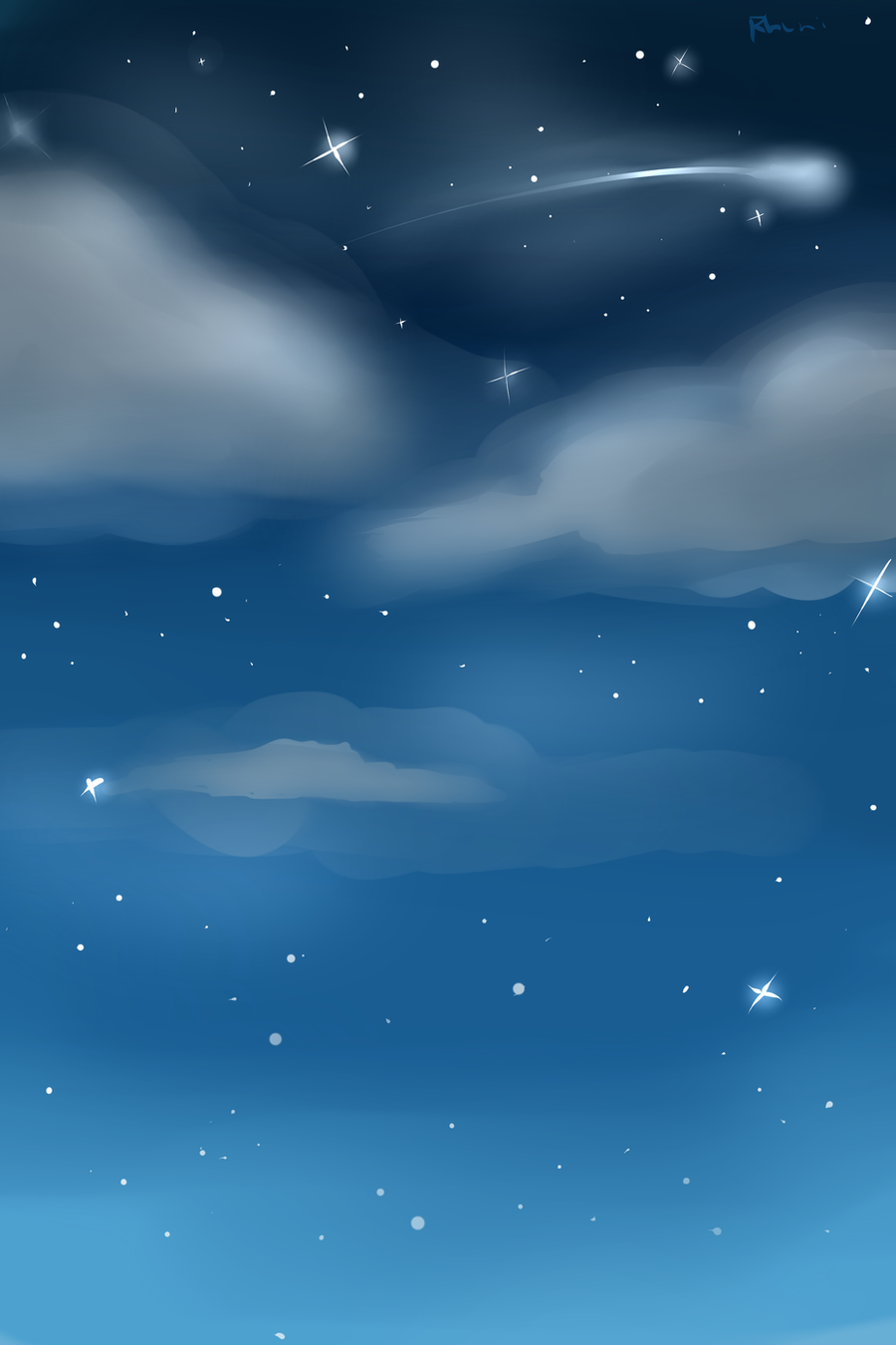 Night Sky Custom Background by Rhuni