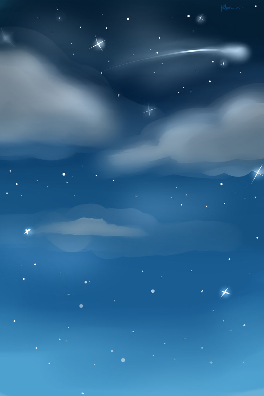 Night Sky Custom Background by Rhuni