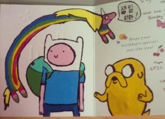 Adventure Time Birthday Card By ItsVoxelFox On DeviantArt