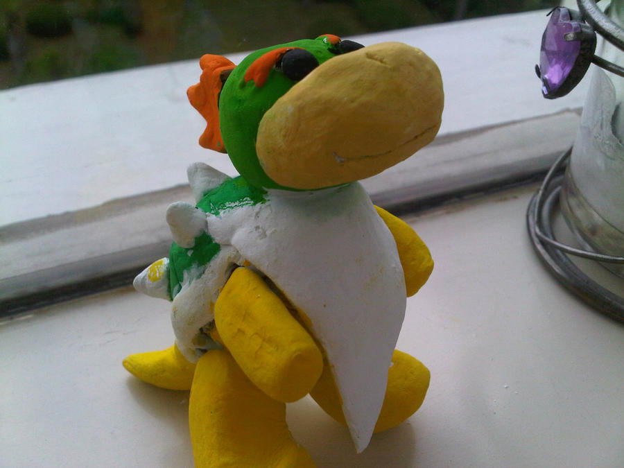 Bowser Junior Clay Sculpture by GracieCouture