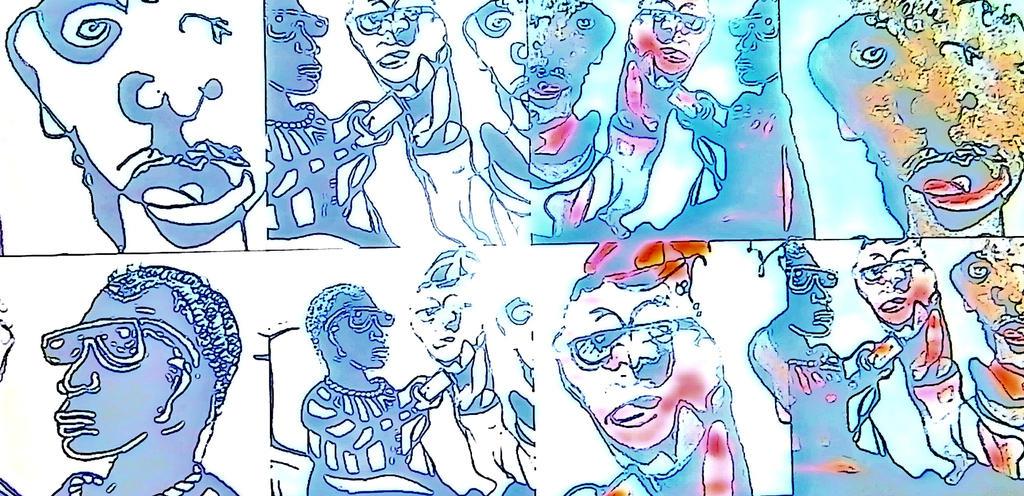 Cell Phone Talk Pop art by jedsart