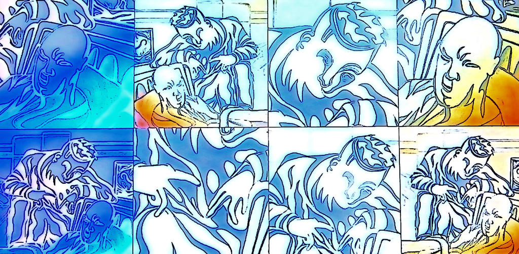 Psycho talk pop art by jedsart