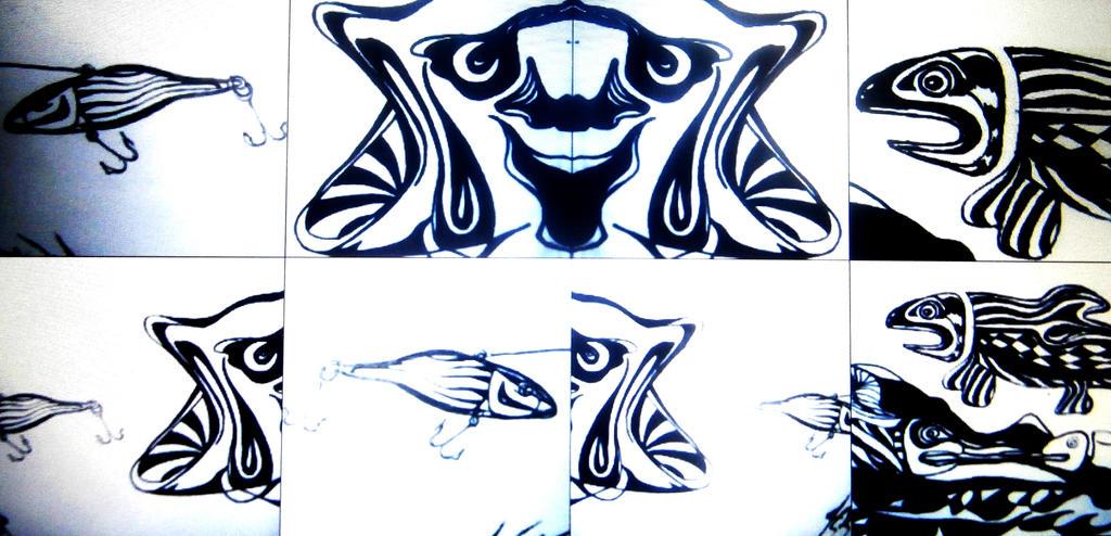 Fish Head pop art by jedsart
