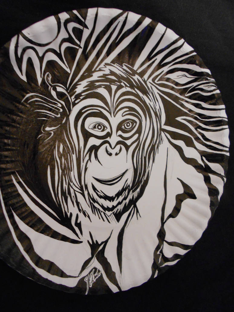 Monkey pen and ink art by jedsart on DeviantArt