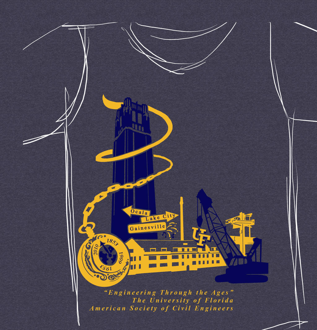 Civil engineering designs for t shirt