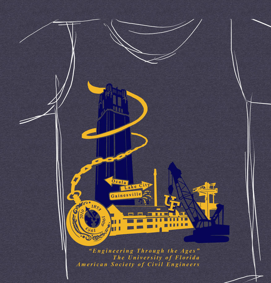 Design t shirt civil engineering - 2010 Uf Asce Conference Shirt By Missriggles