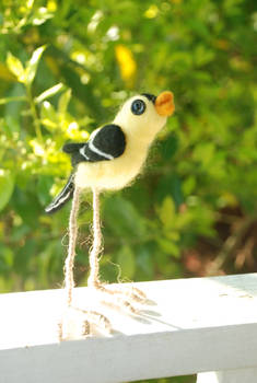 Needle-felted Goldfinch
