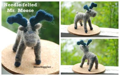 Needle-felted Moose