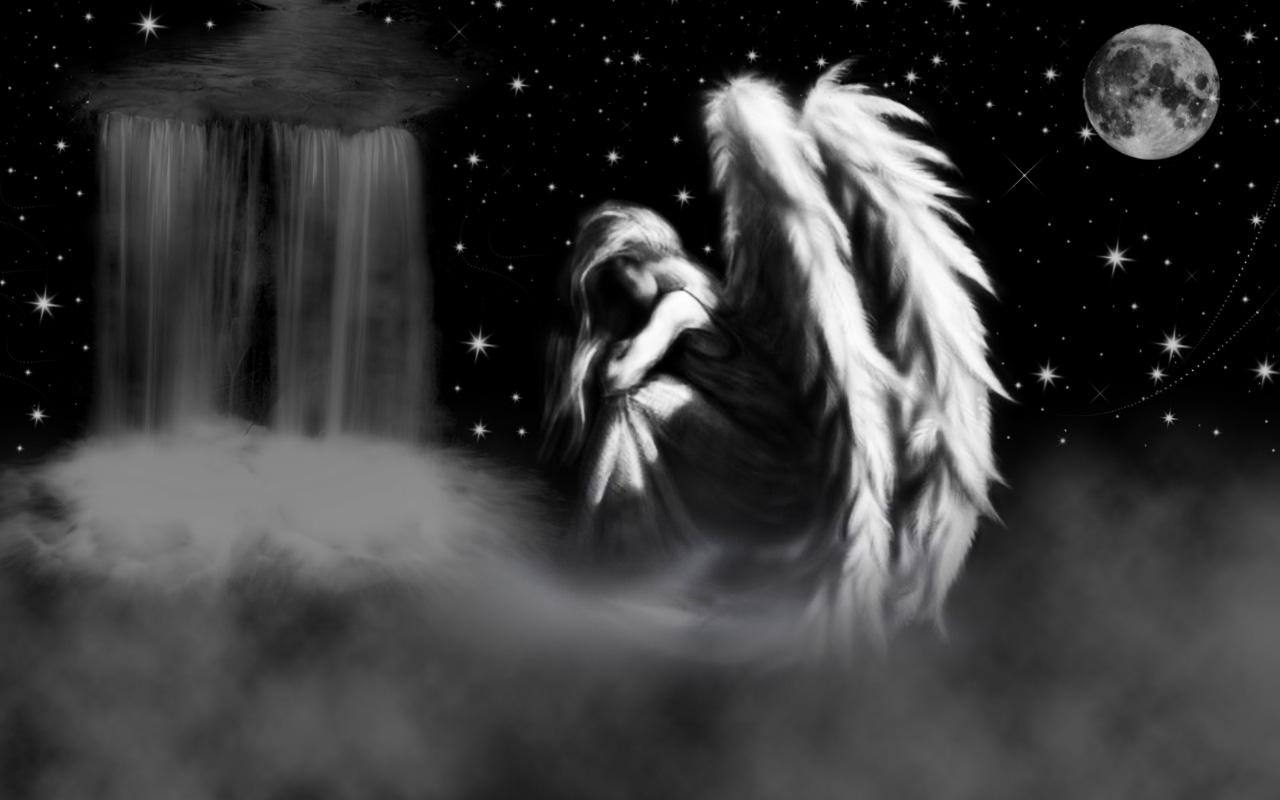 Sad angel by kinderitza on deviantart - Sad angel wallpaper ...