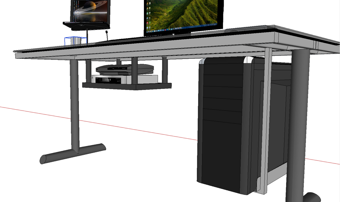 sketch of a desk i 39 m going to be building suggestions wanted. Black Bedroom Furniture Sets. Home Design Ideas