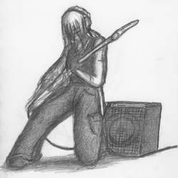 Raz-playing Bass... by Raz-Xion