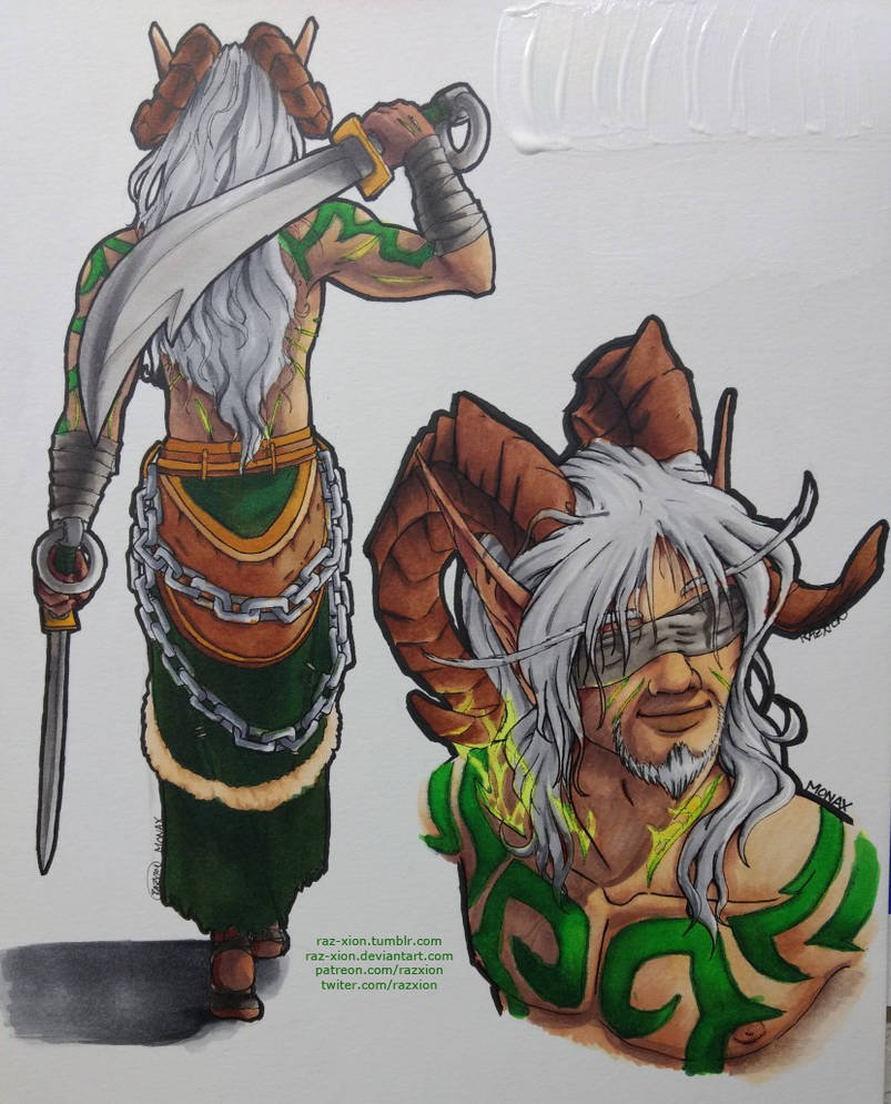 Monax The Undying Copic Drawings By Raz Xion On Deviantart
