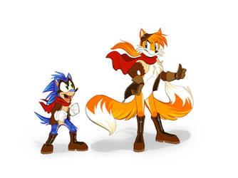 Sonic the Sidekick by ThisCrispyKat