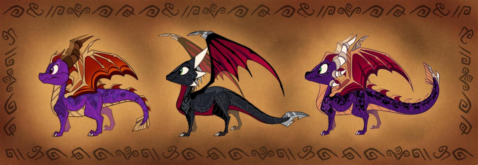 Scoria, Daughter of Spyro and Cynder (Comparison) by ThisCrispyKat