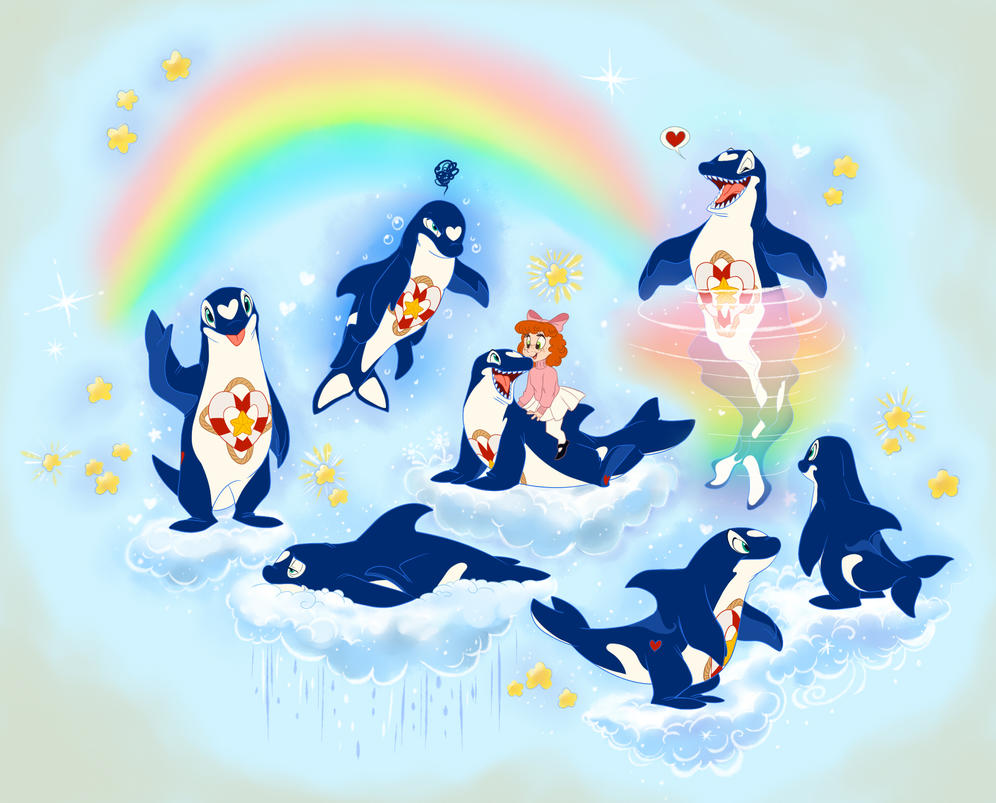 Care Bears - Unamed Orca by ThisCrispyKat