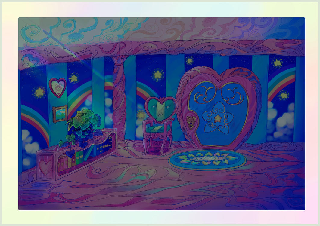 Care Bear House Interior (Midnight) by ThisCrispyKat