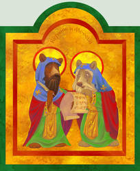 Saints Bearil and Methodiursus by ThisCrispyKat