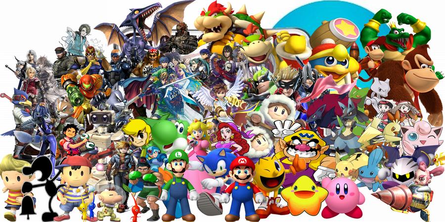 Super Smash Bros. Universe Character Wallpaper by NintendoFanDj