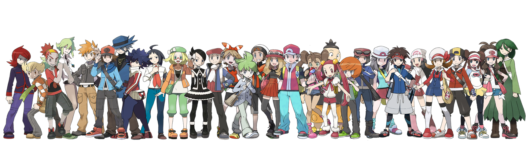 Pokemon Trainers - Rivals - Supporting Rivals by NintendoFanDj