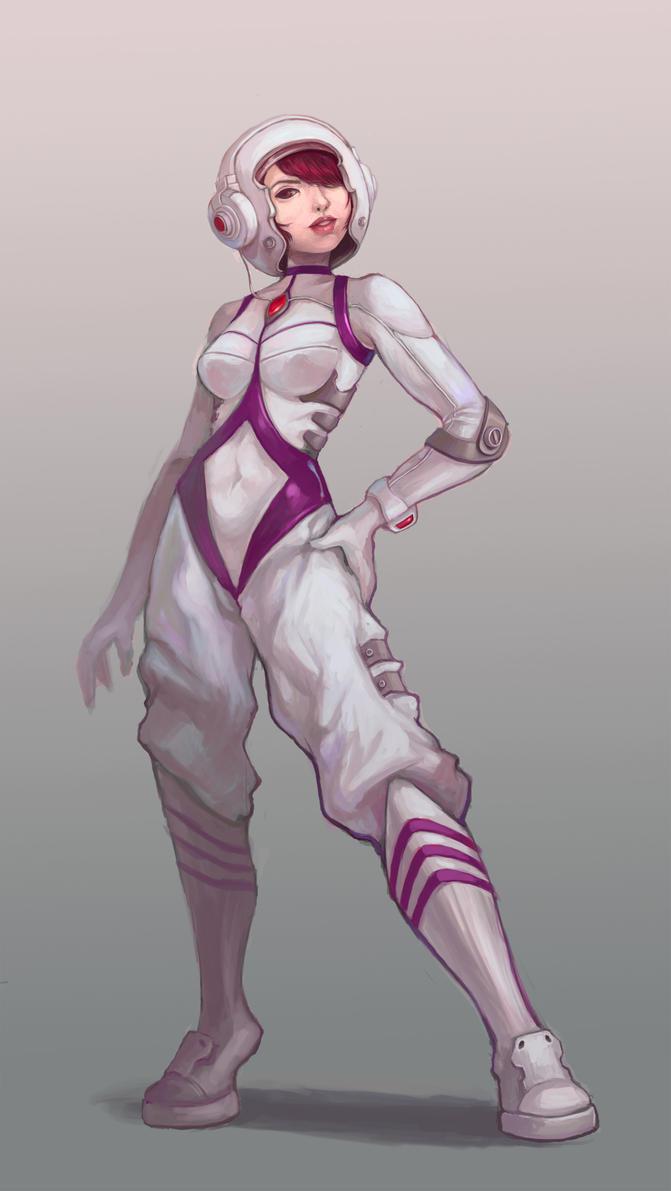 Sexy Space girl... by Dazdays