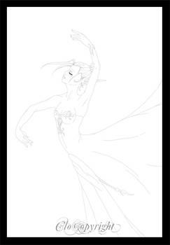 Lineart of Dancer