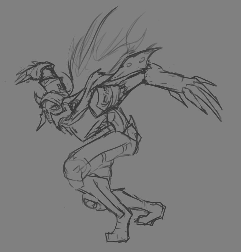 Forsaken Warrior Sketch