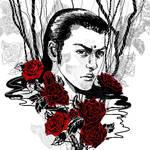 SKETCH - FFVII - Tseng Roses 1
