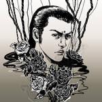 SKETCH - FFVII - Tseng Roses 2