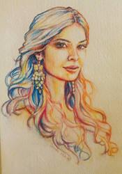 Athena (A Portrait of my Best Friend) by dnatio